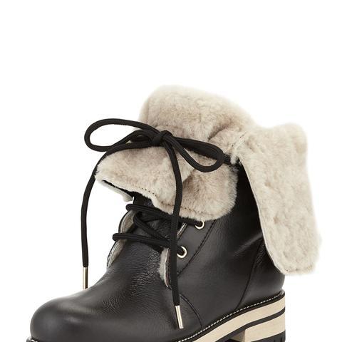 Bold Coat Dalton Shearling Fur-Lined Mid-Calf Boots