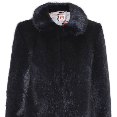 Dulcie Striped Faux Fur Coat
