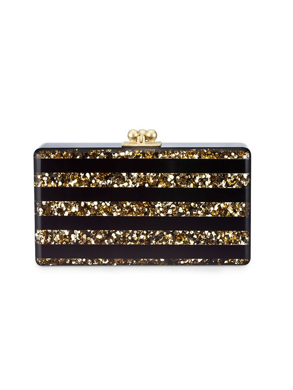 Edie Parker Jean Confetti Striped Clutch Bag