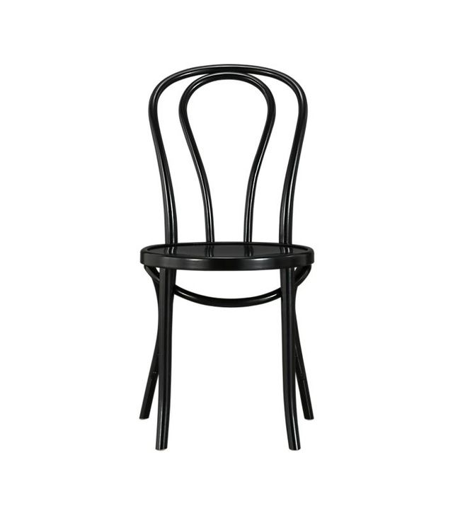 Crate & Barrel Vienna Black Side Chair