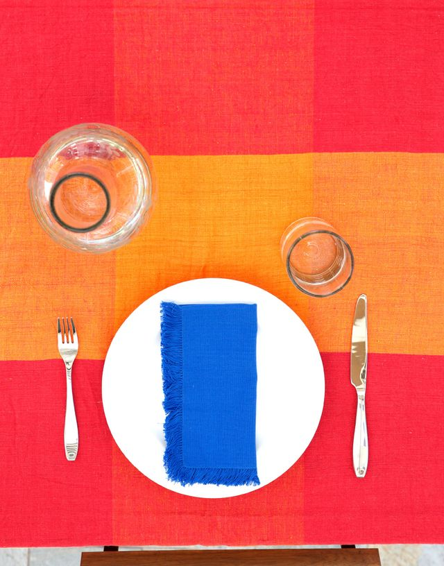Mayan Hands for The Little Market Royal Blue Napkin