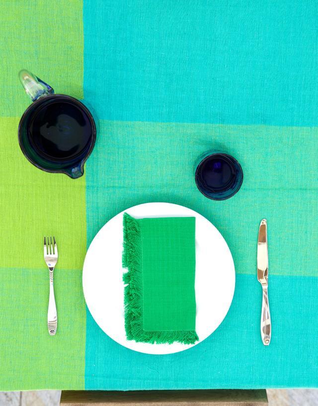 Mayan Hands for The Little Market Green Napkin