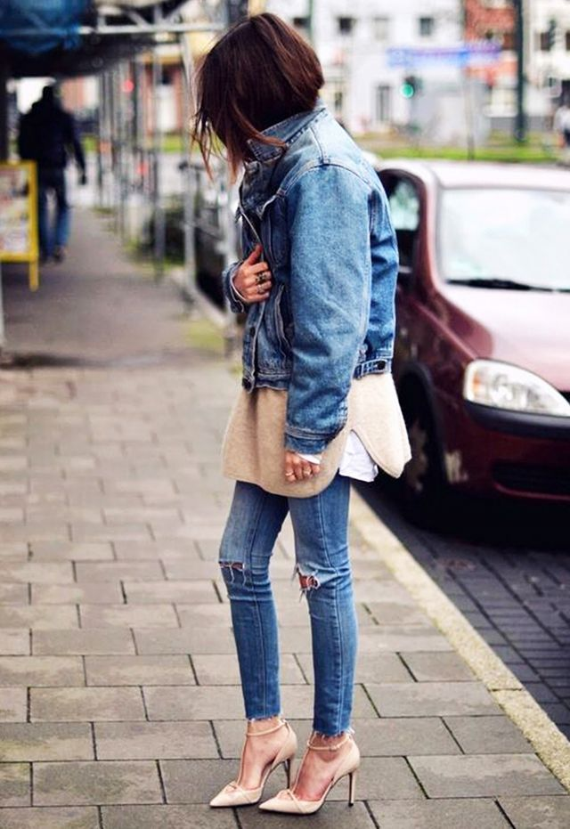 Frayed-Edge Jeans