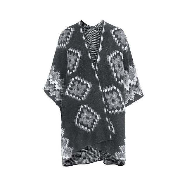 Topshop Knitted Aztec Cape