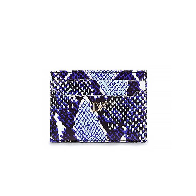 Diane von Furstenberg Heritage Print Leather Tuxedo Card Case