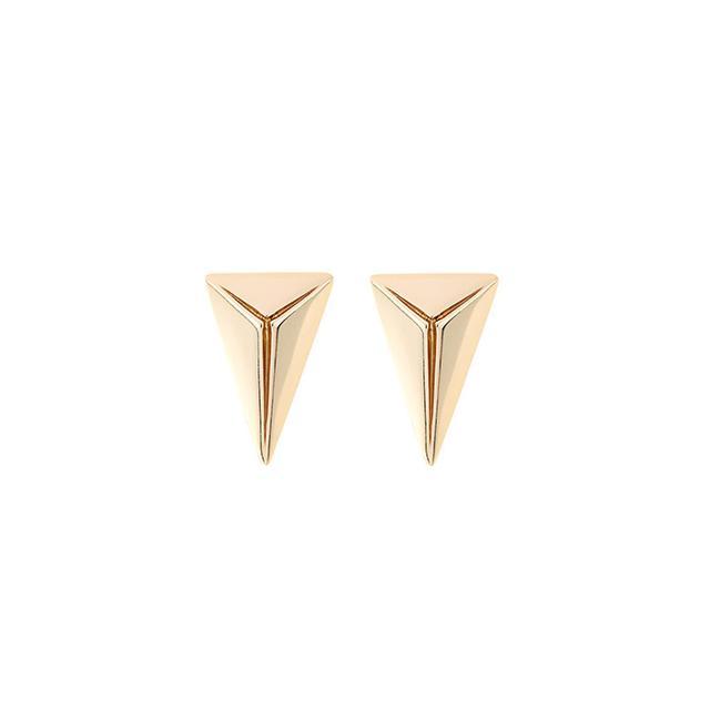Joomi Lim Gold-plated Pyramid Stud Earrings