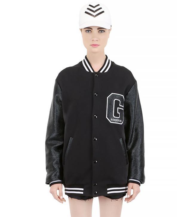 Gaelle Bonheur Heavy Cotton Jersey Varsity Jacket