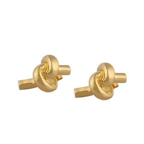 Large Knot Gold-Plated Earrings