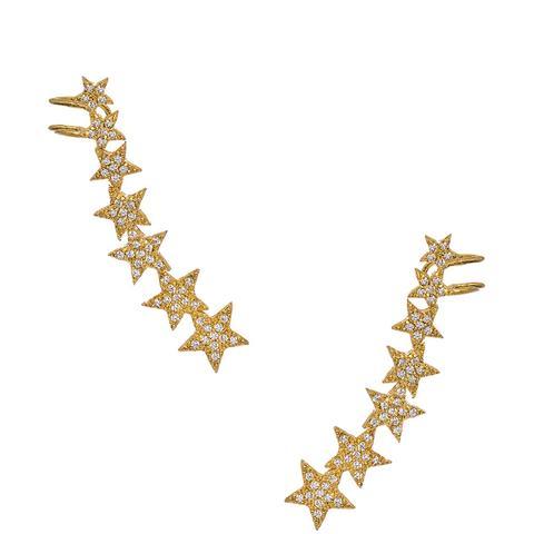Crystal Streets Star Ear Cuff Earrings