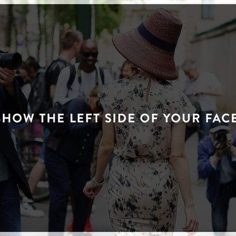 How to Look Photogenic: Show the left side of your face