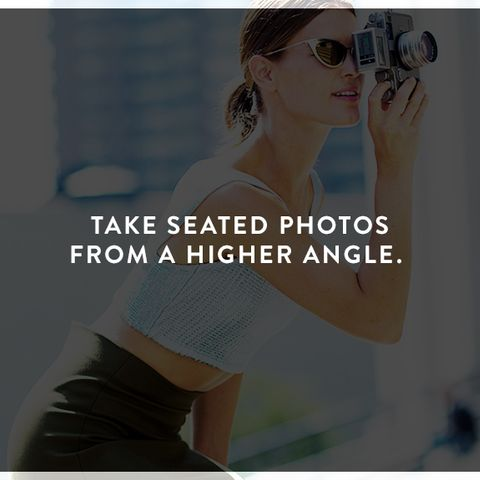 How to Look Photogenic: Take seated photos from a higher angle