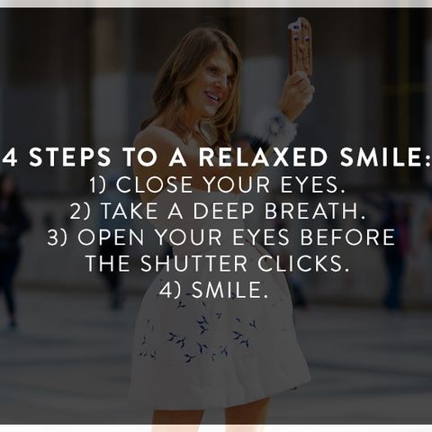 How to Look Photogenic: Always aim for a relaxed smile