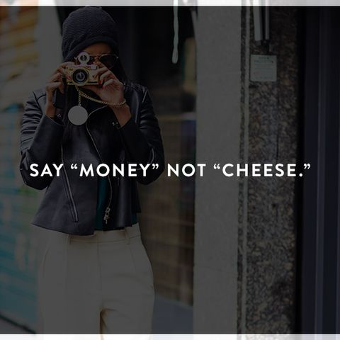 """How to Look Photogenic: Cay """"money"""" not """"cheese"""""""