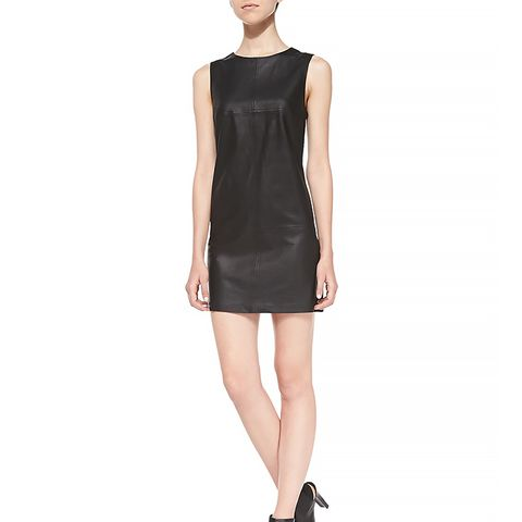 Tarala Seamed leather Dress