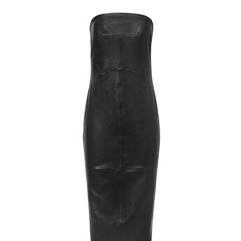 Angelina Leather Bustier Dress