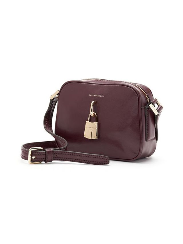 Dana Buchman Wolcott Leather Crossbody Bag