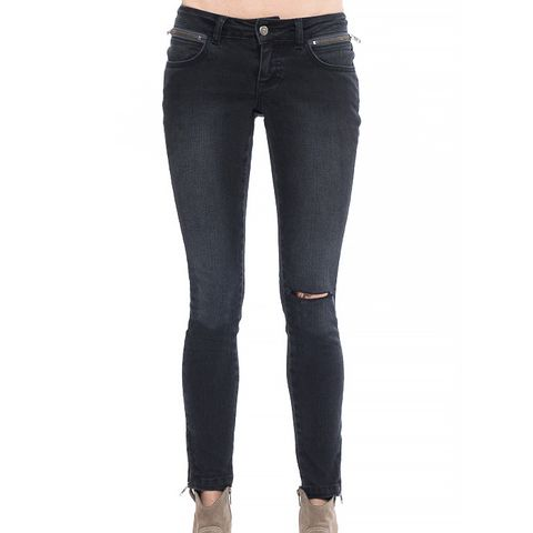 Cropped Jeans with Slit