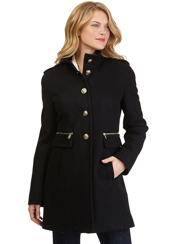 Nautica Zip Pocket Military Coat