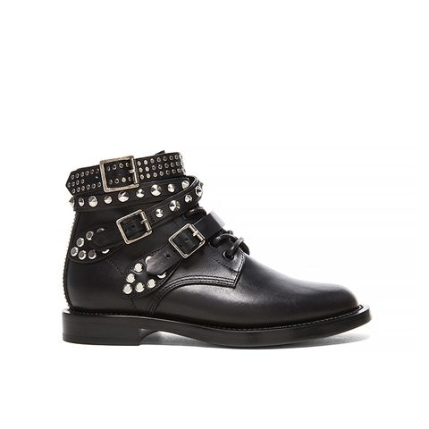 Rangers Studded Low Combat Boots in Black
