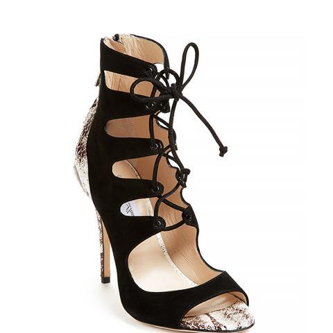 Python Suede Lace Up Sandal