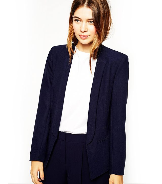ASOS Blazer In Crepe With Skinny Lapel