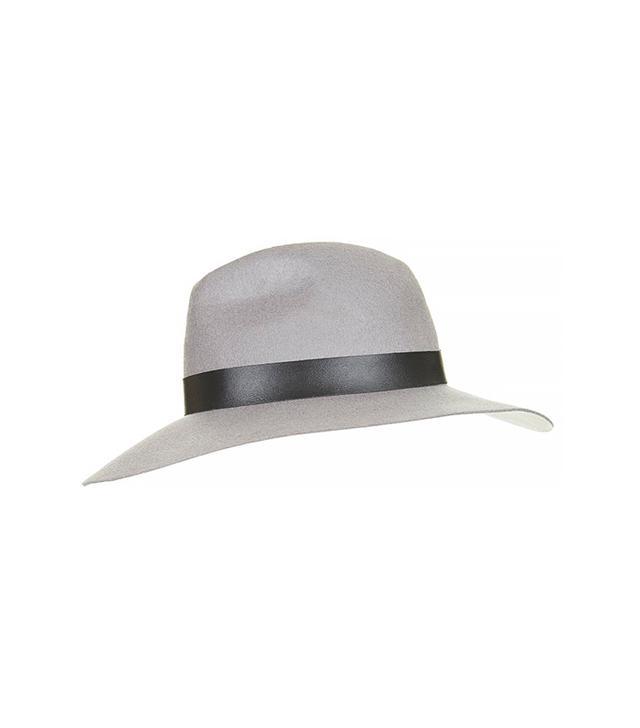 Topshop Wide Brim PU Fedora Hat