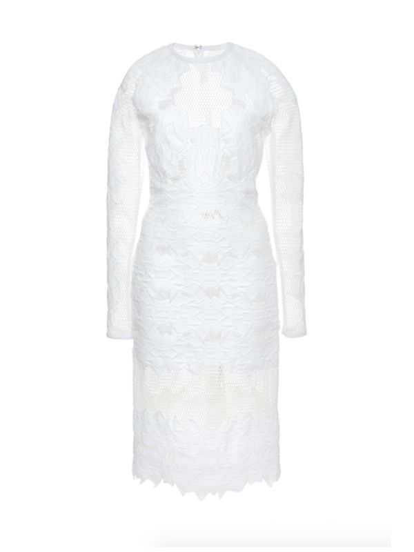 Jonathan Simkhai White Burnout Brocade Dress