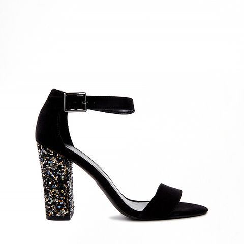 Teach Embellished Heel Sandals