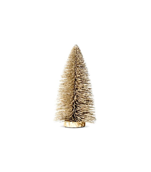 Target Gold Bottle Brush Tabletop Christmas Tree