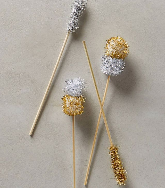Anthropologie Pom-pom Cocktail Stirrers