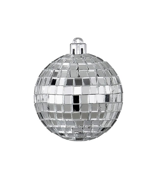 CB2 Disco Ball Silver Ornament