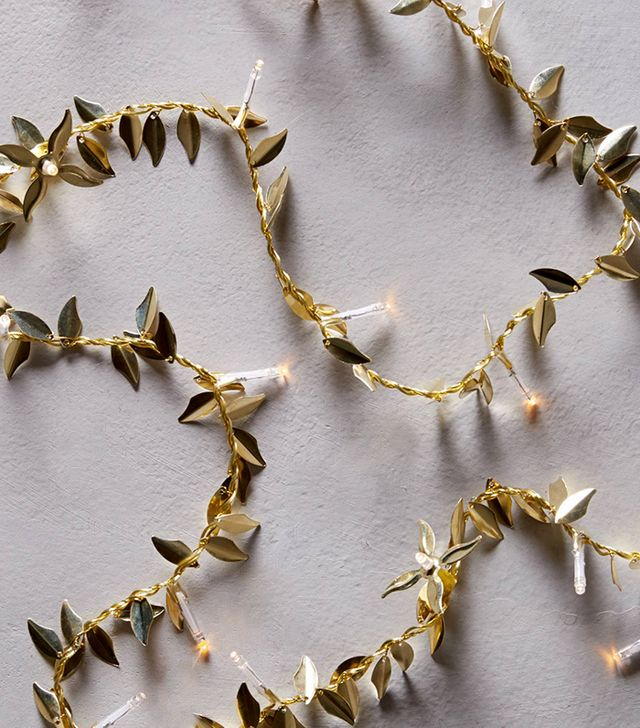 Anthropologie Gilded Garland String Lights