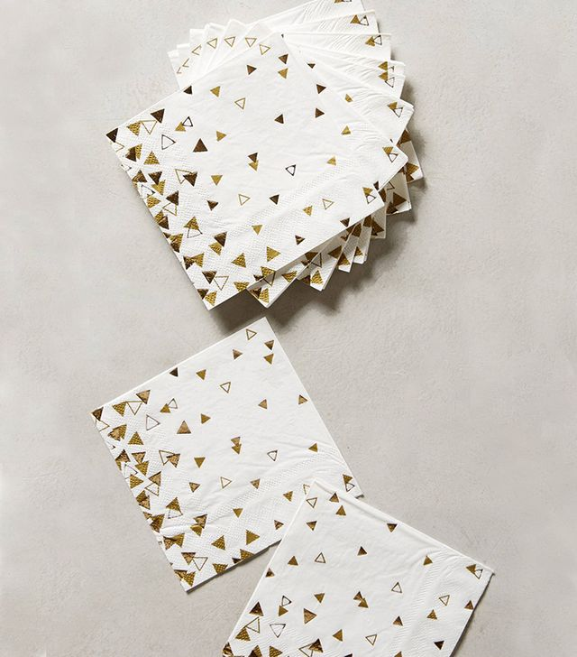 Anthropologie Glinted Confetti Cocktail Napkins