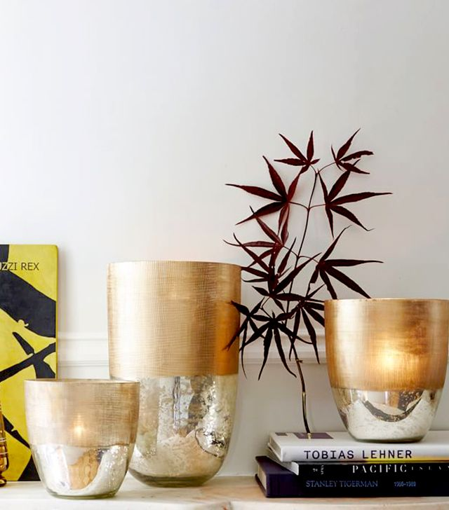 West Elm Textured Mercury Vases