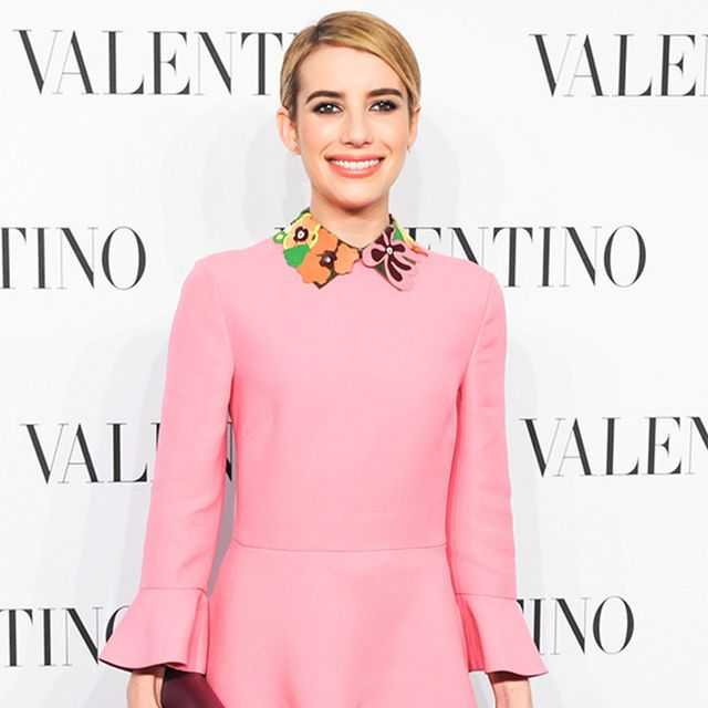 Emma Roberts is the Spitting Image of Twiggy in Valentino