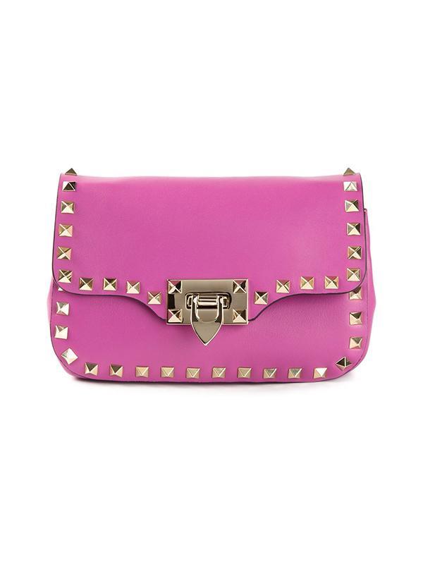 Valentino Rockstud Aubergine Crossbody Bag
