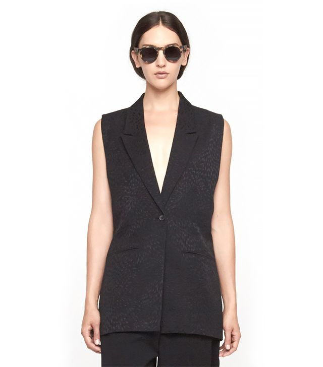 Avelon Strip Sleeveless Blazer