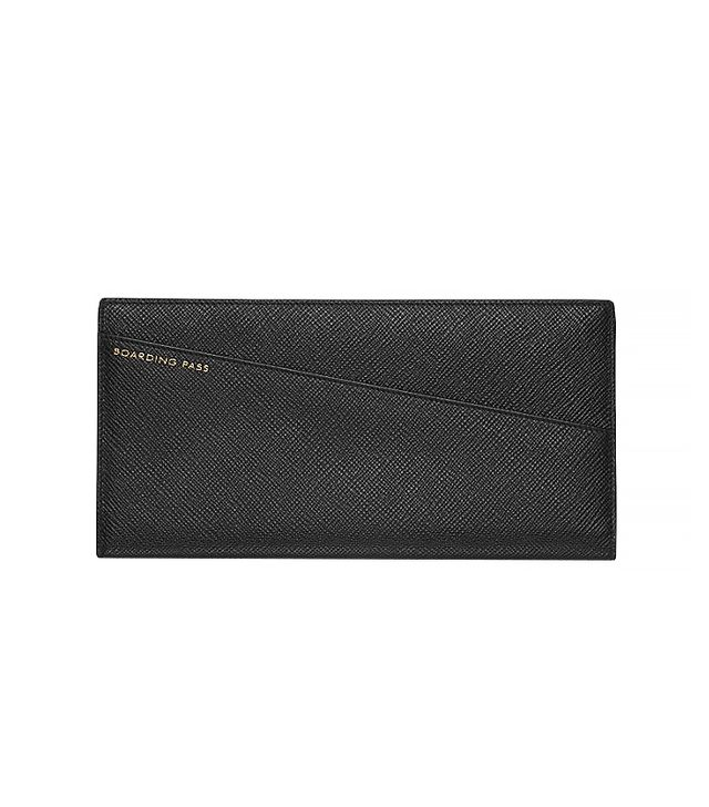 Smythson Panama Collection Slim Travel Wallet