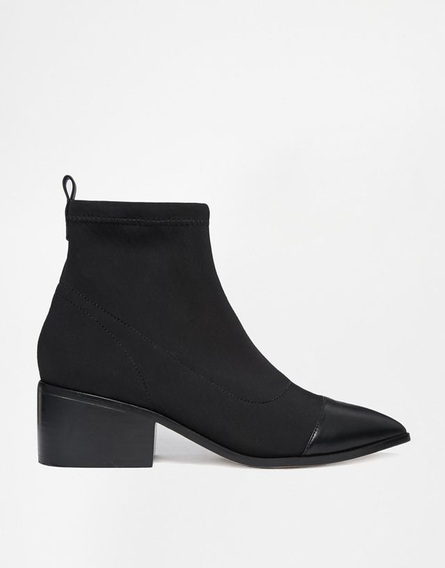 ASOS Razorblade Stretch Ankle Boots