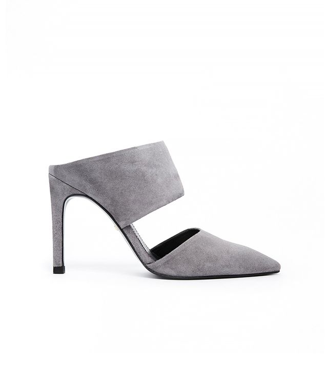Whistles Tillia Suede Pointed Mule Shoes
