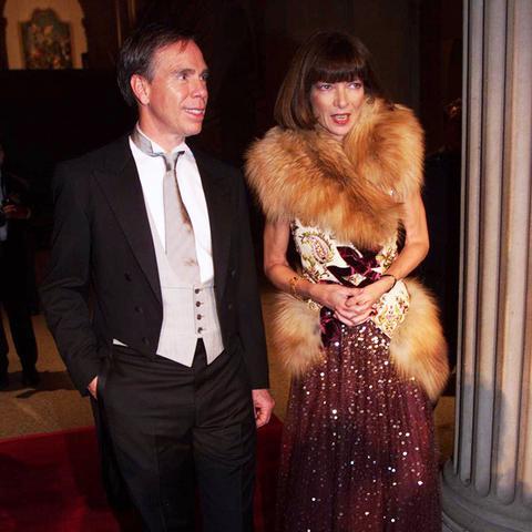 Fur, Velvet, and Sequin Gown