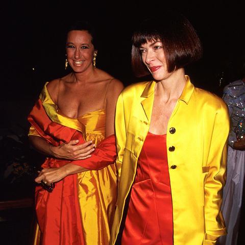 Red Satin Minidress + Yellow Satin Jacket