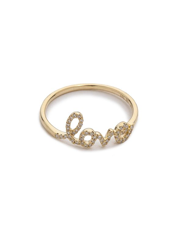 EF Collection Diamond Love Ring