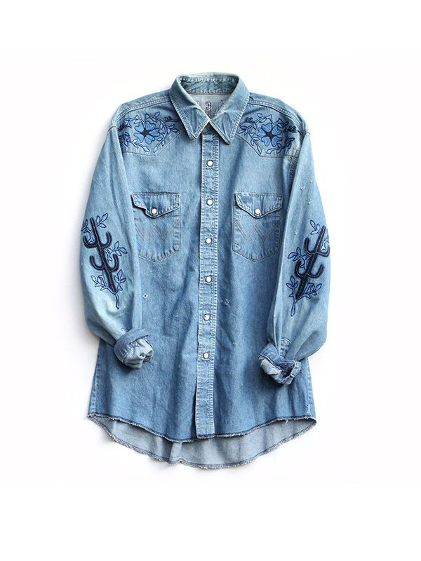 Bliss and Mischief Face of the Desert Denim Shirt