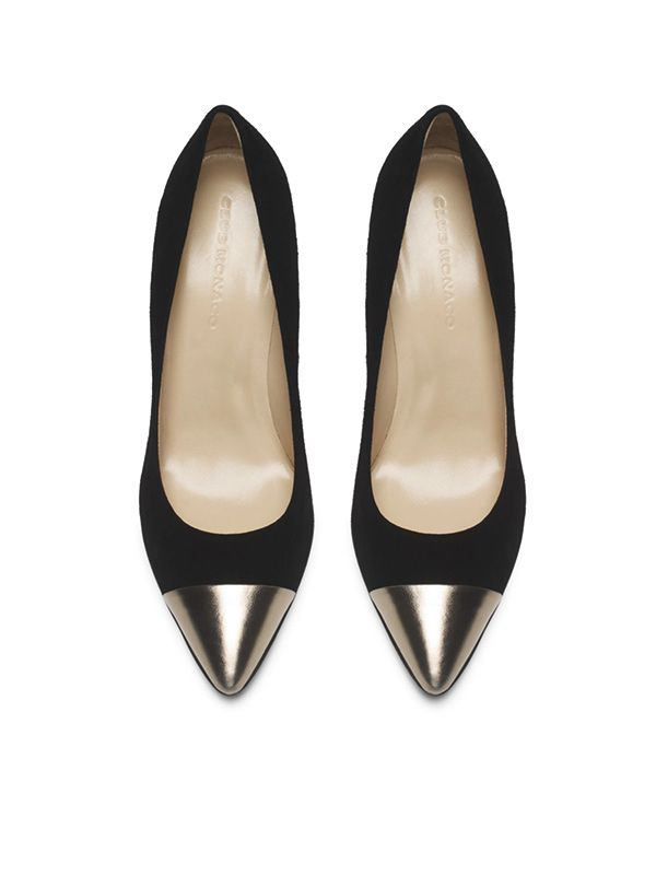 Club Monaco April Gold Cap Toe Pumps