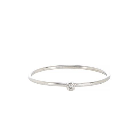 Diamond & White Gold Thin Ring