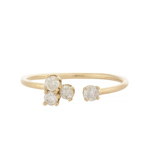 Diamond & Gold Spade Ring