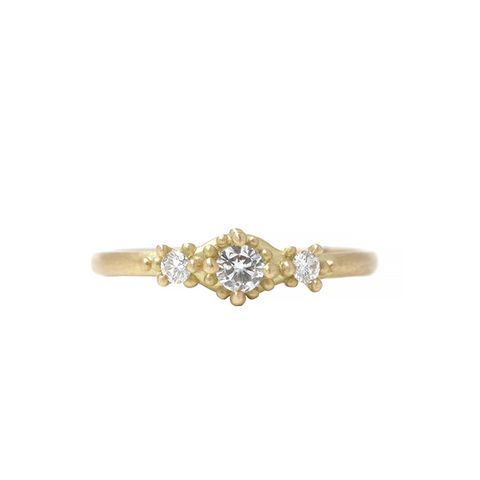 Ariel Ring with Three Diamonds