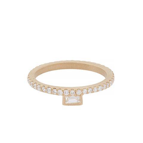 Diamond & Gold Stacking Band