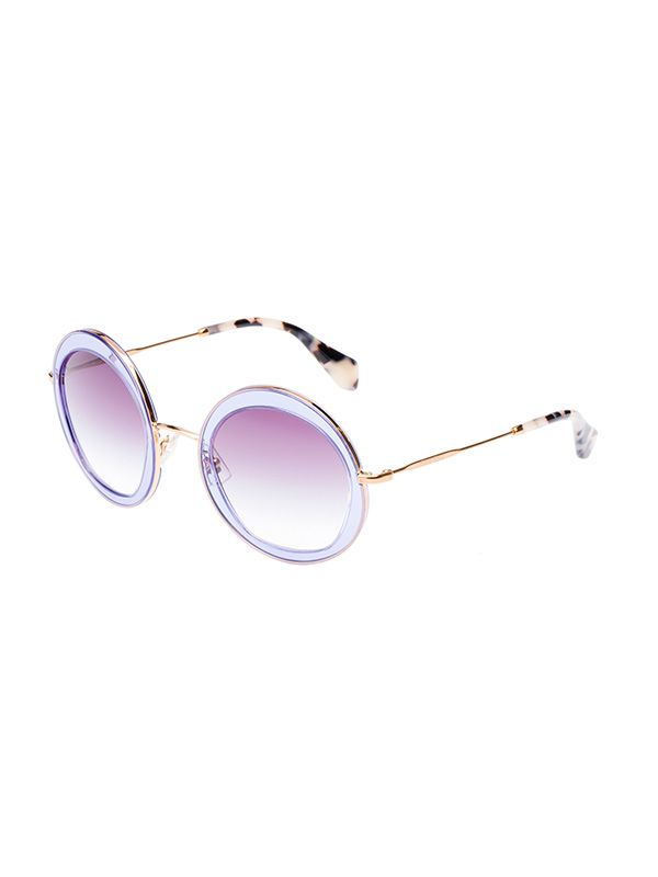 Miu Miu 52mm Round Sunglasses